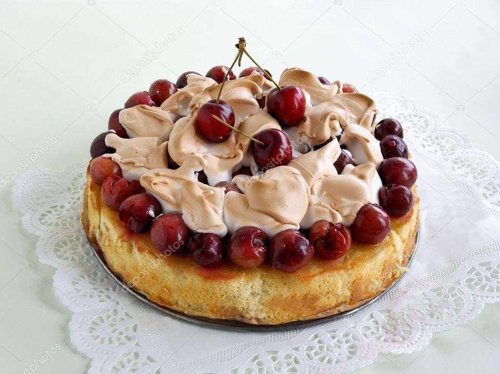 Kekse Kuchen Mit Nerinques Und Susskirschen Stockfoto C Manka 77196165