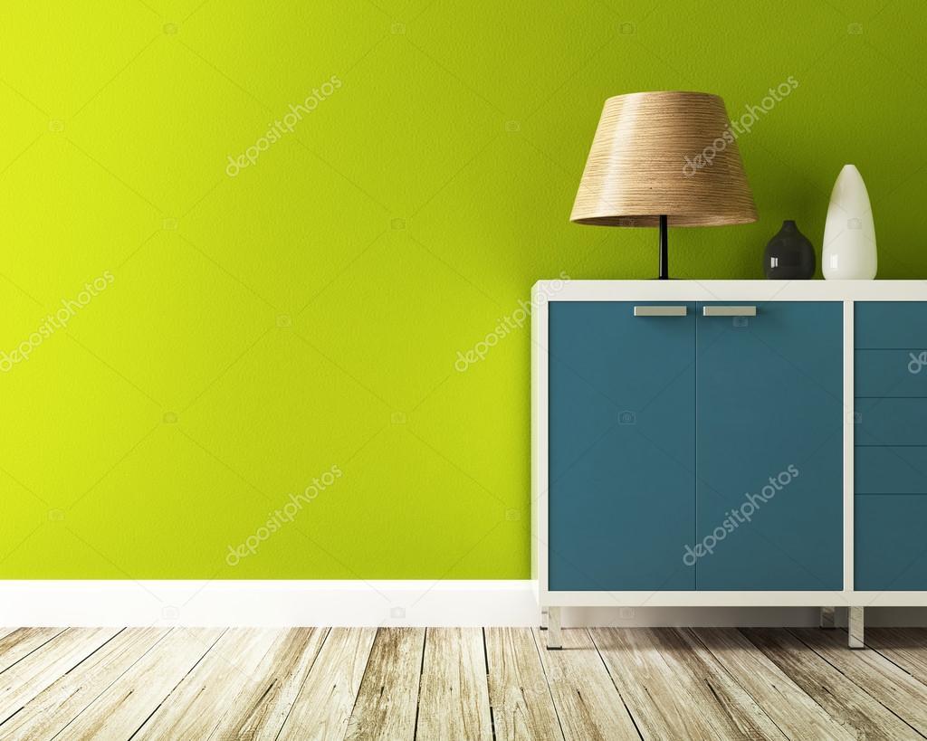Grüne Wand Und Schrank Dekorieren Stockfoto Sayhmog 53709157