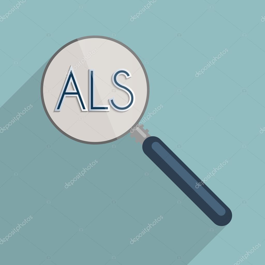 Sclérose latérale amyotrophique - SLA — Image vectorielle venci ...