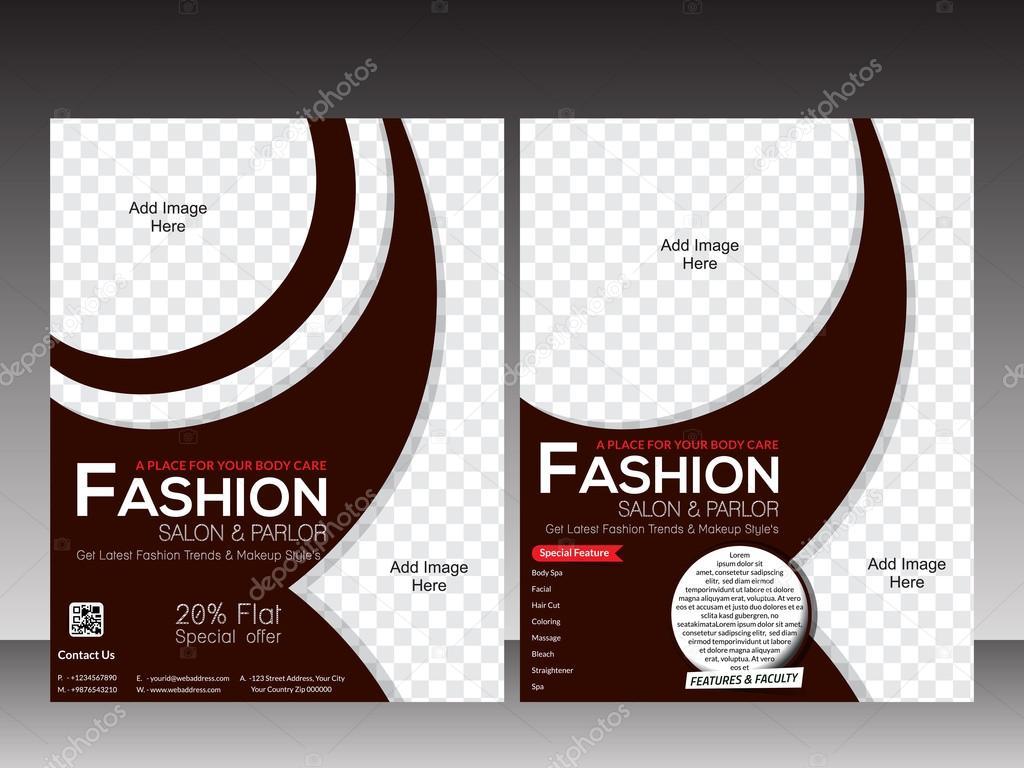fashion flyer template design stock vector - Fashion Brochure Template
