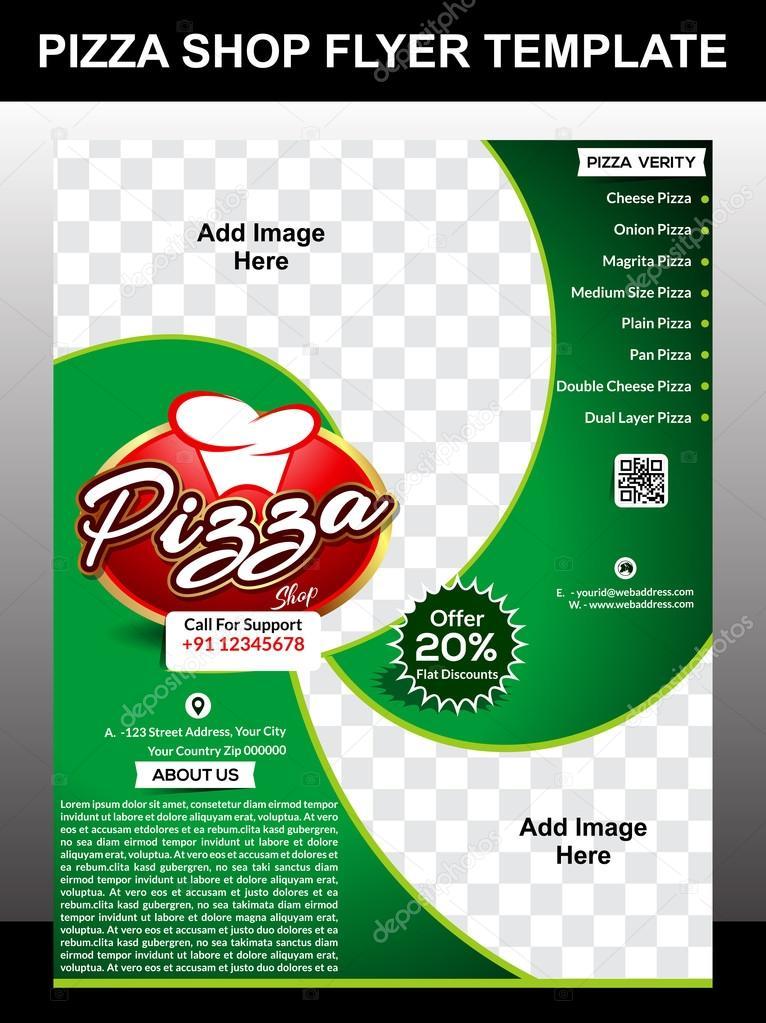 pizzería diseño de plantilla de Flyer — Vector de stock © gurukripa ...