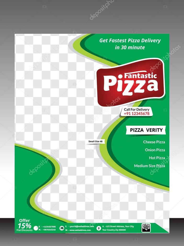 diseño de plantilla de flyer de tienda de pizza — Archivo Imágenes ...