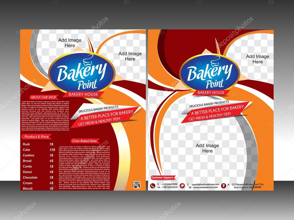 Bakery Shop Flyer Template Pamplet Stock Vector Gurukripa - Bakery brochure template