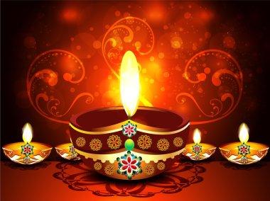 Abstract Diwali Festival Background vector illustration stock vector