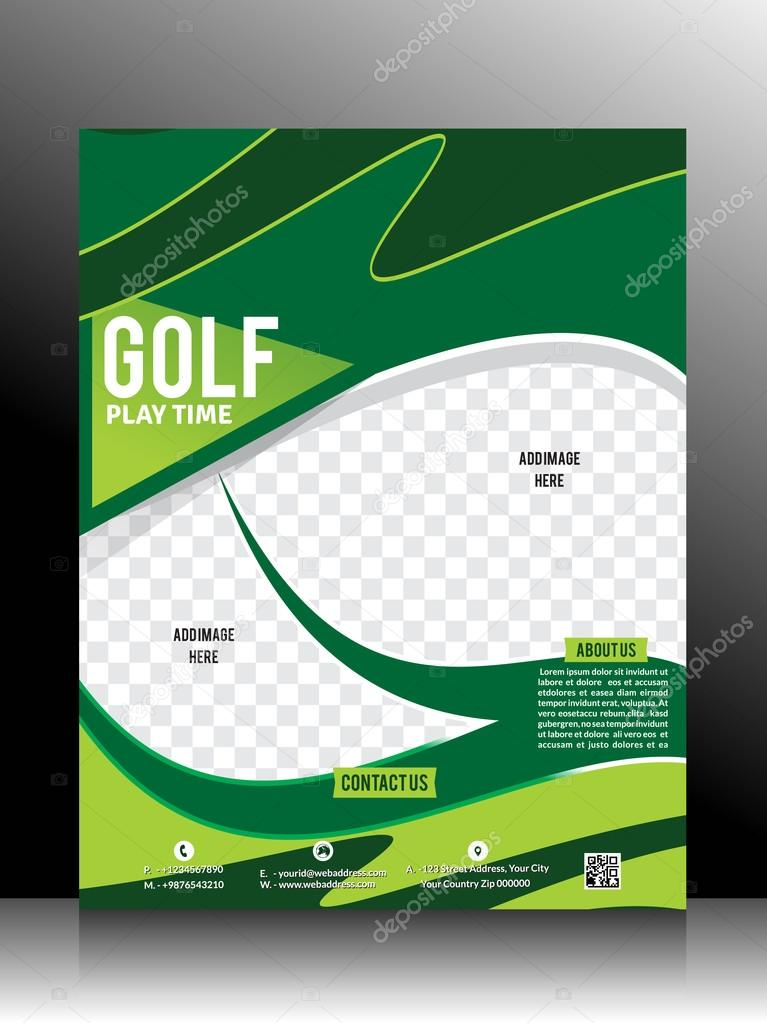 Golf Flyer Template Stock Vector Gurukripa 53831439