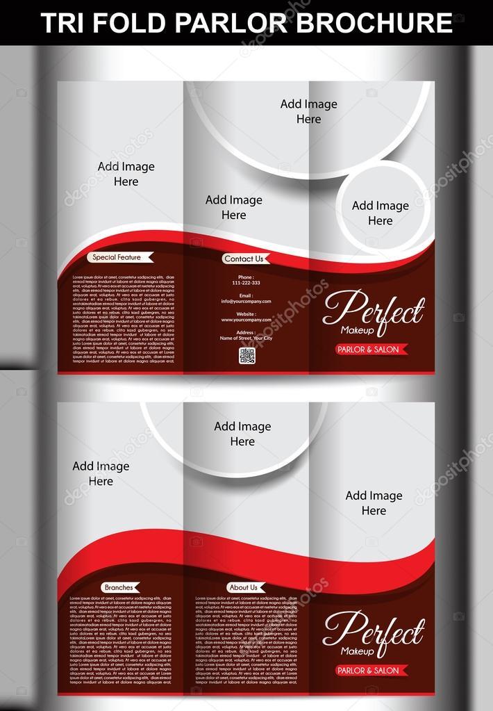 Tri-Falte-Salon Broschüre Vorlage — Stockvektor © gurukripa #55987911