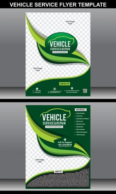 Vehicle service flyer template