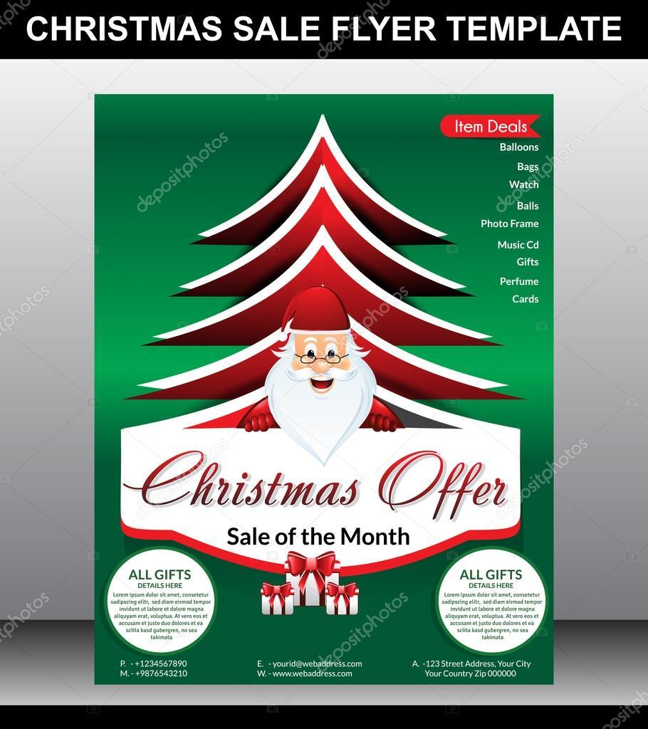 Christmas Sale Flyer Vorlage — Stockvektor © gurukripa #57392817
