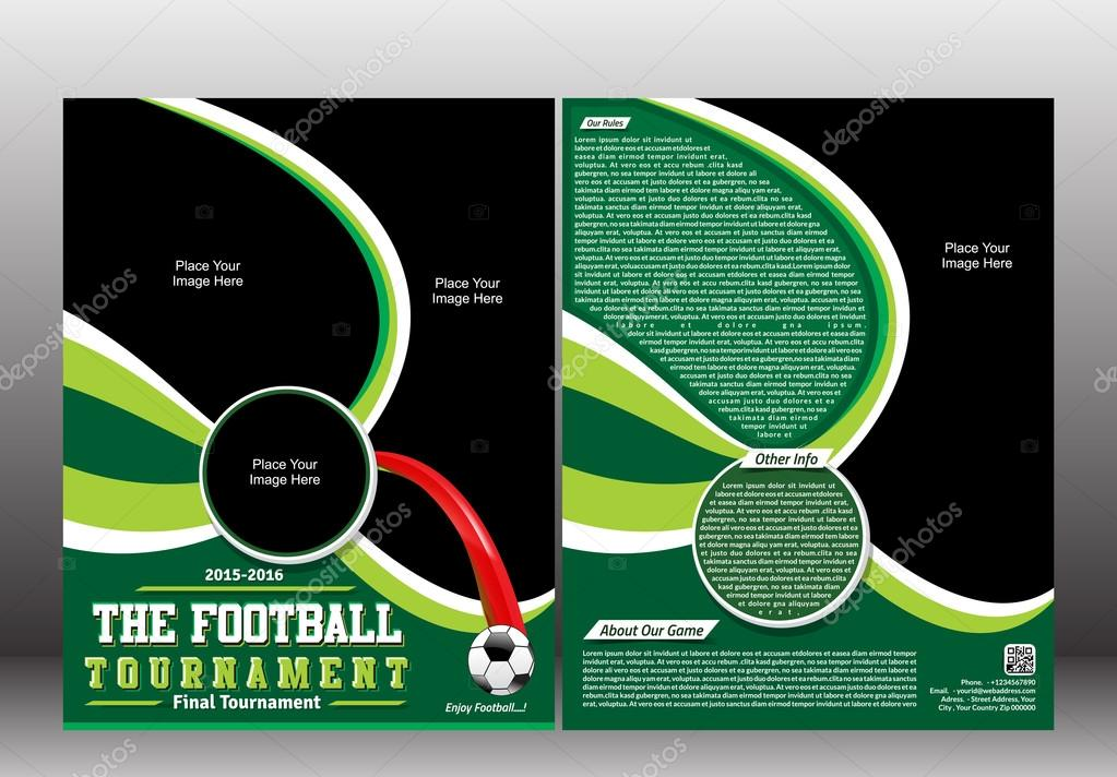 football tournament flyer template stock vector gurukripa 64563553