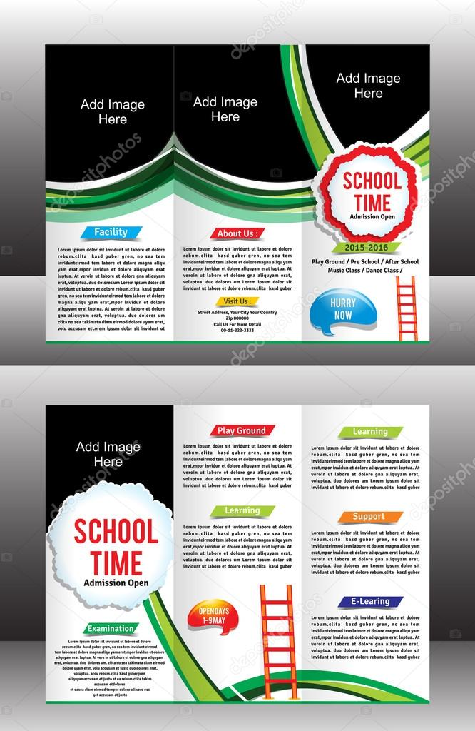 Tri Fold School Brochure Template Stock Vector Gurukripa 65018125