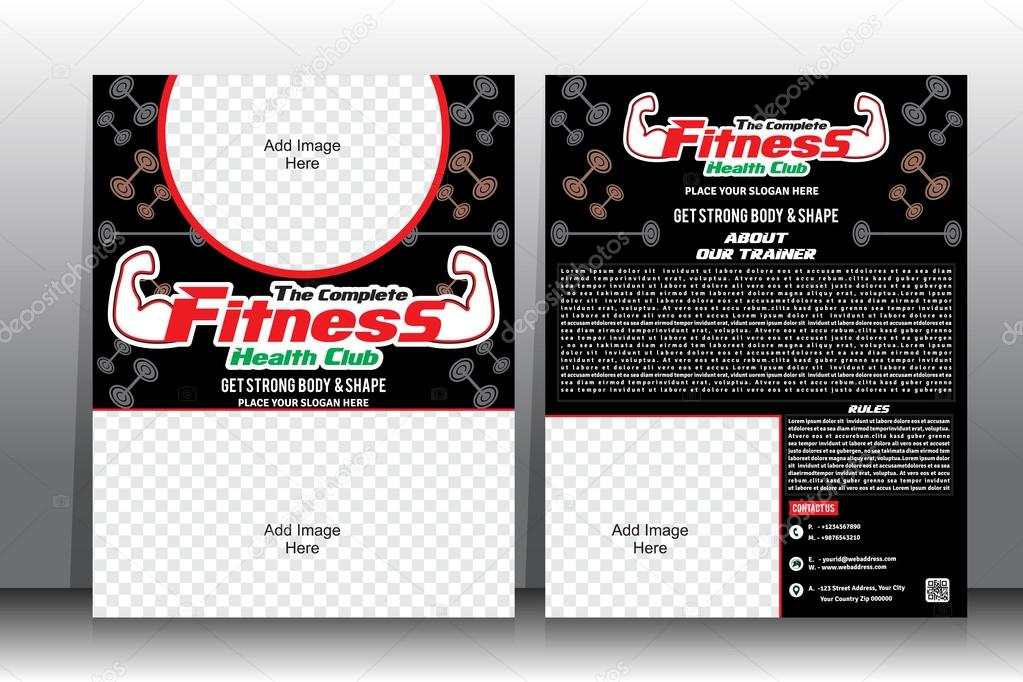 Fitness Flyer & Brochure Template — Stock Vector © Gurukripa #69522293
