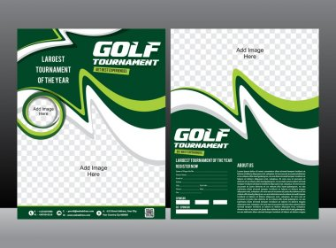 golf tournament flyer design borhure & magazine