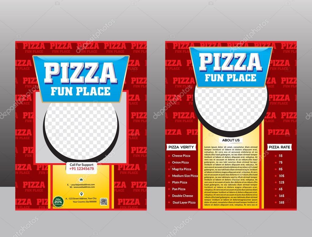 diseño de plantilla de flyer de pizza — Archivo Imágenes Vectoriales ...