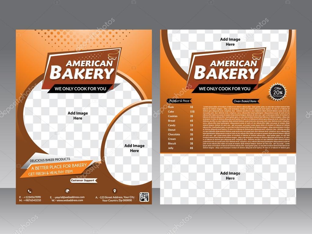 Bakery Flyer Magazine Poster Template Stock Vector Gurukripa - Bakery brochure template free