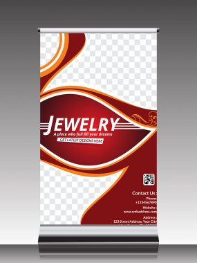 roll up banner for jewelry shop