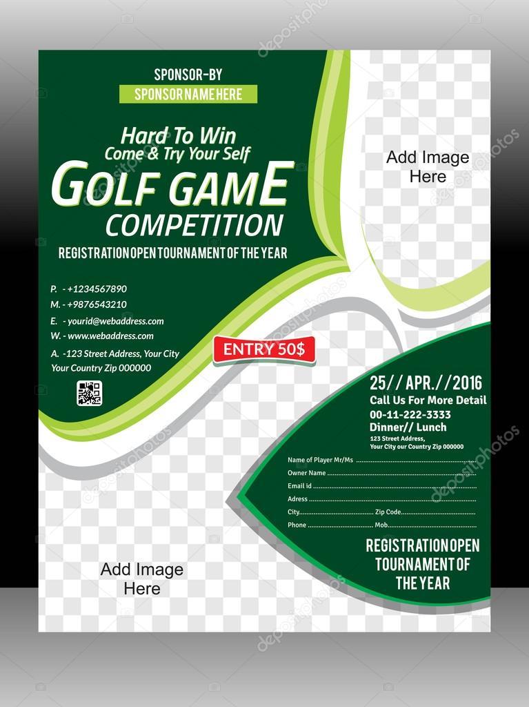 golf tournament flyer template magazine design illustration