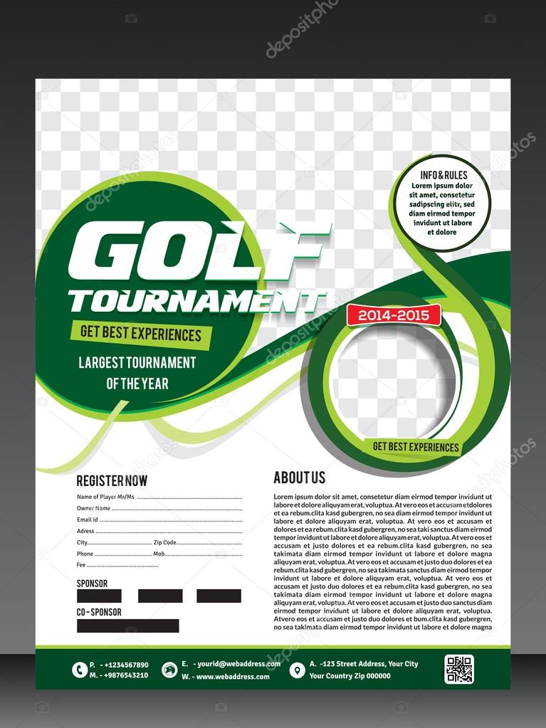 Golf-Turnier-Flyer-Vorlage — Stockvektor © gurukripa #83598014