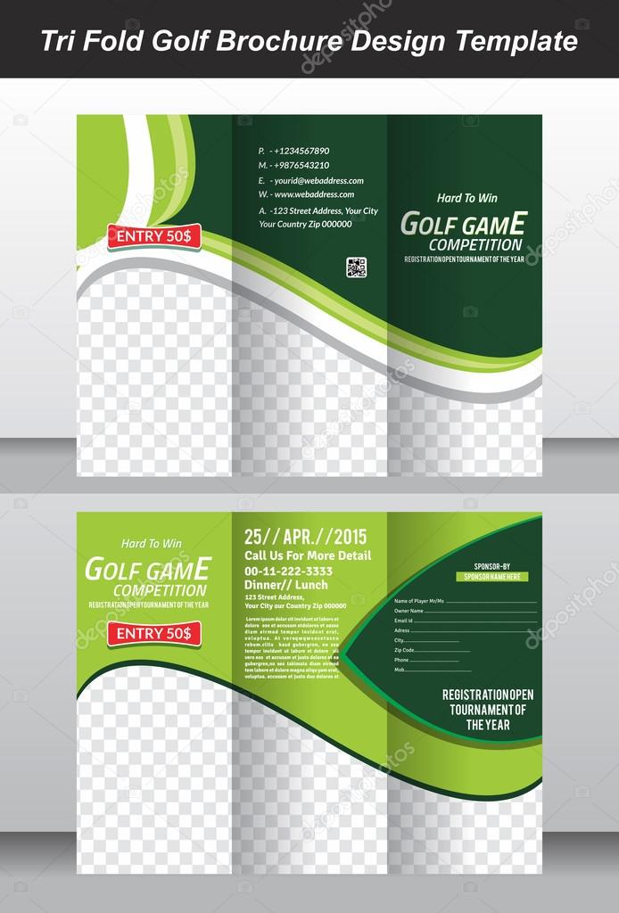 Tri Golf Brochure Template Design Stock Vector Gurukripa 86358368