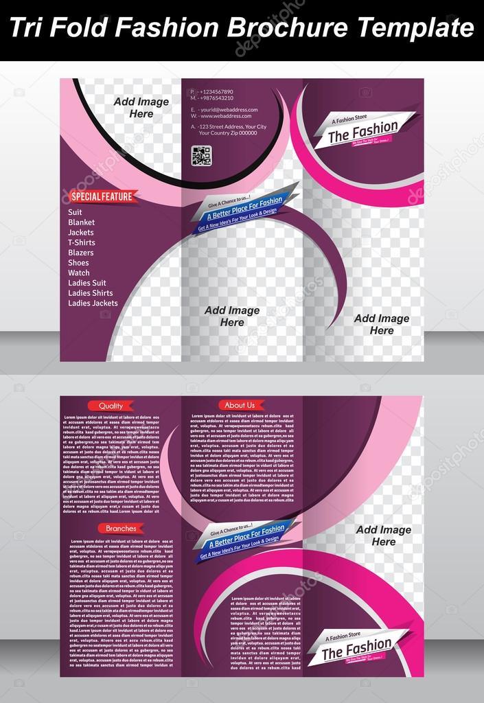 Tri Fashion Store Brochure Template Design  Stock Vector