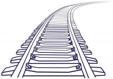Curved endless Train track.