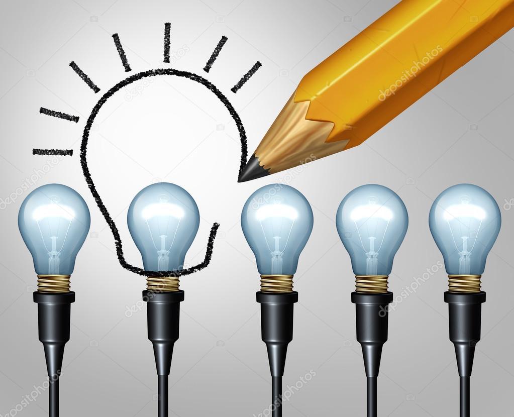 Glühbirne Bleistift Zeichnung Stockfoto Lightsource