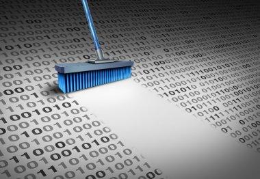 Deleting Data Concept