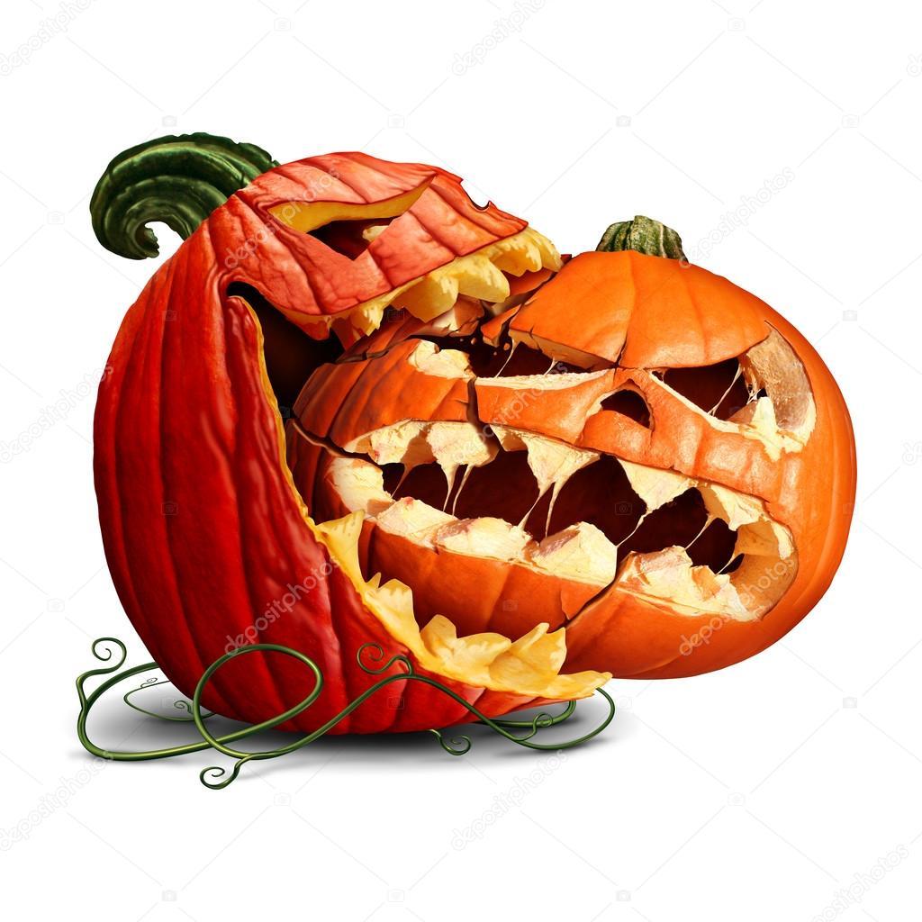 Uit Eten Met Halloween.Pompoen Eten Pictogram Stockfoto C Lightsource 124087670