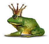 Fotografia vista laterale di rana principe