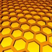 Méhsejtszerkezetű minta