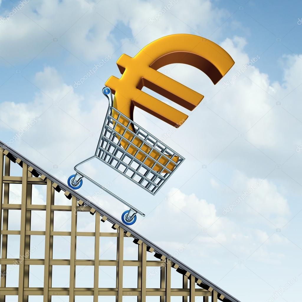 Euro currency decline stock photo lightsource 85017056 euro currency decline financial concept as a three dimensional european money icon in a shopping cart going down a roller coaster as an economic symbol for buycottarizona Choice Image