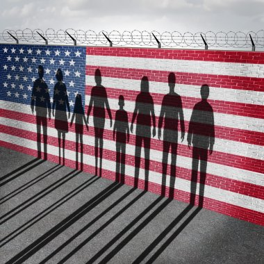 American Immigration Concept