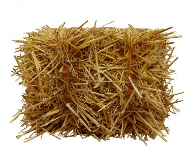 Bale-Of-Hay-Front-View