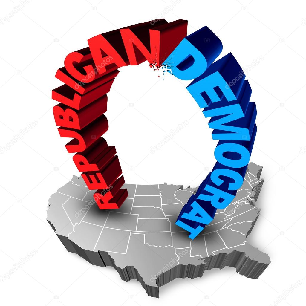 Democrat Republican Election Race