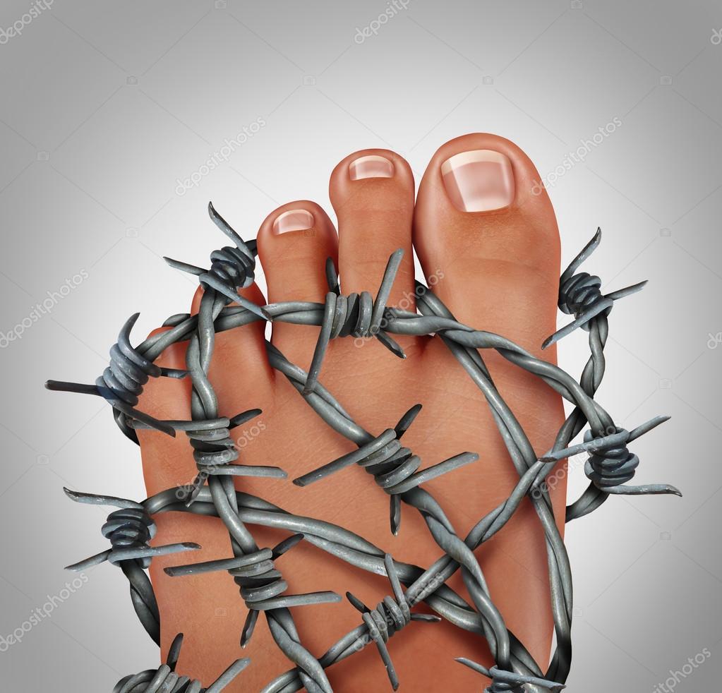 Foot Pain Concept