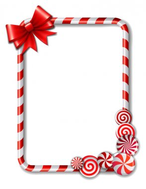 Frame made of candy cane