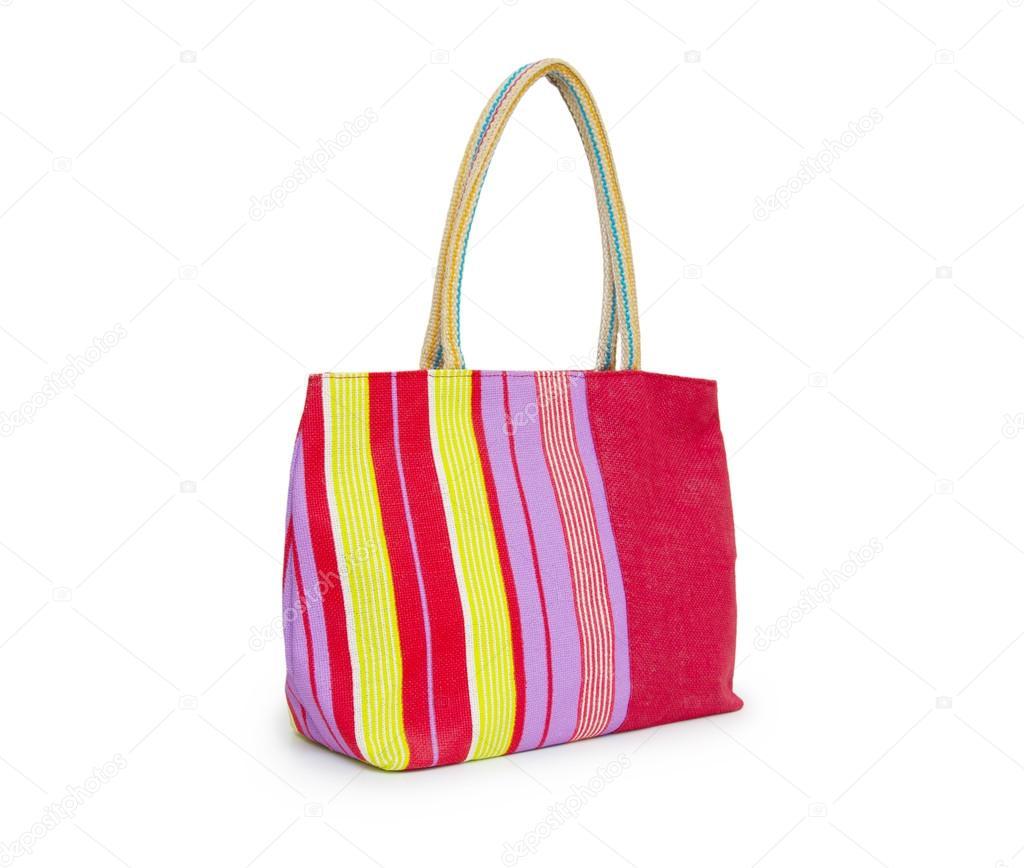 nyári táska elszigetelt fehér background — Stock Fotó © cocooo ... f90283d6f3