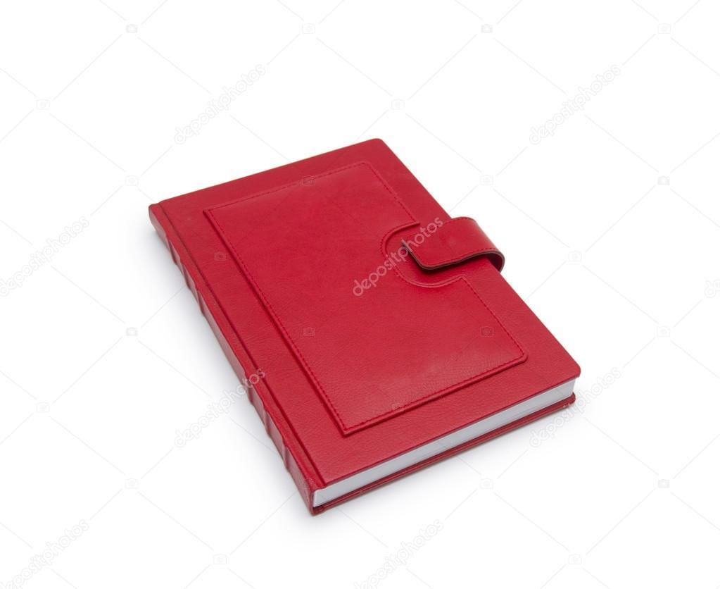 1cca53d35c9 Buch rot auf weißem Hintergrund — Stockfoto © cocooo #55387667