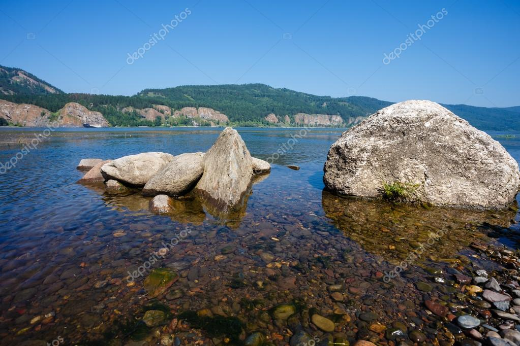 The Siberian landscape on the Yenisei River