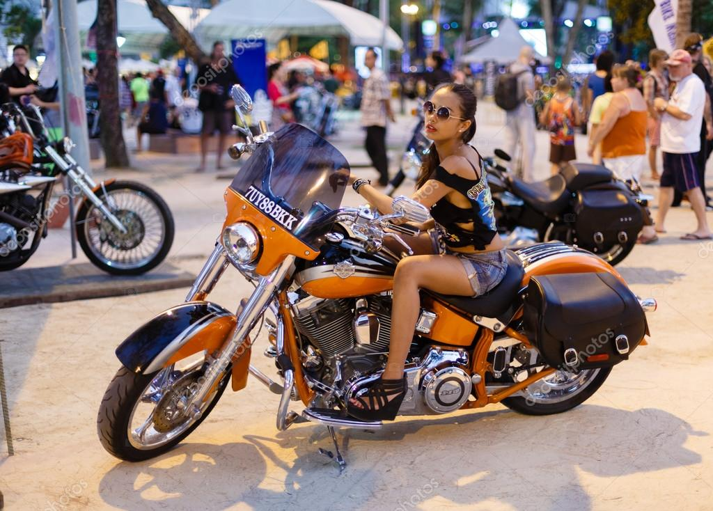 annual festival of bikers on Phuket in Thailand