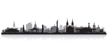 Krasnoyarsk Russia city skyline vector silhouette