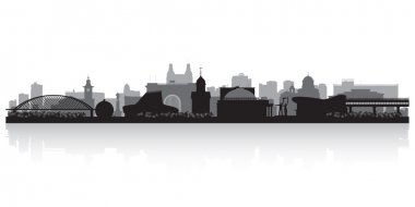 Novosibirsk Russia city skyline vector silhouette