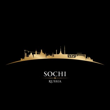 Sochi Russia city skyline silhouette black background