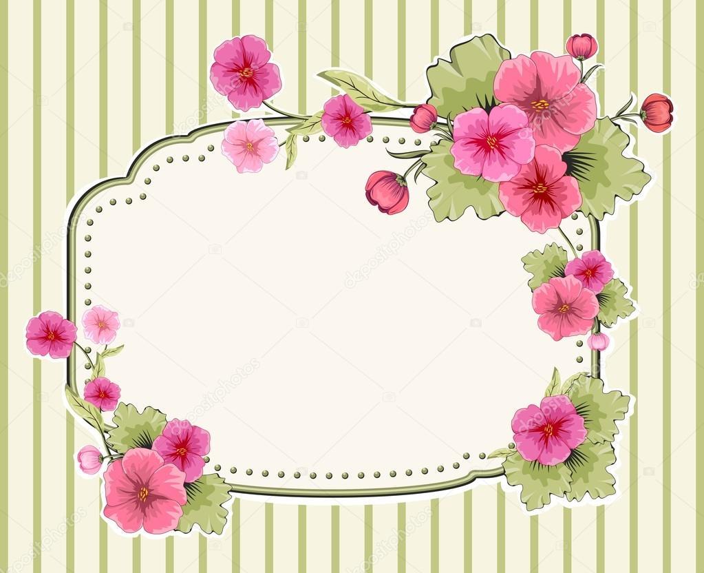 Invitación Con Flores Para