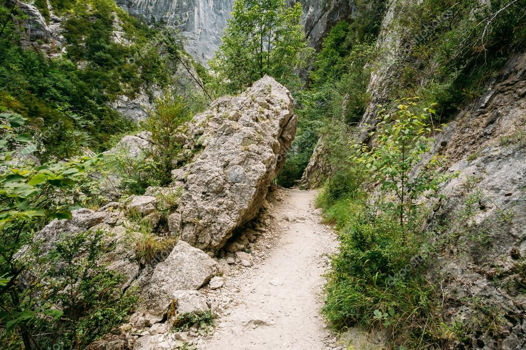 Beautiful Trail, Path, Way, Mountain Road In Verdon Gorge In Fra