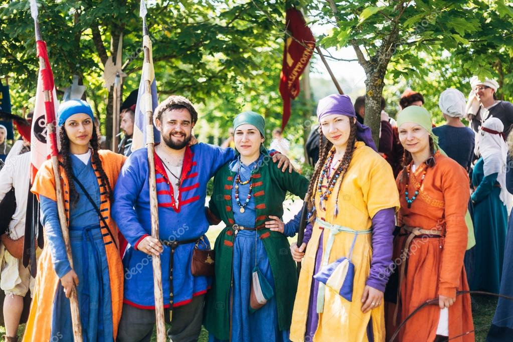 Warriors participants of VI festival of medieval culture