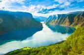 Norsko přírody fjordu sognefjord
