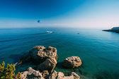 Fotografie Parasailing near resort town of Nerja in Spain.
