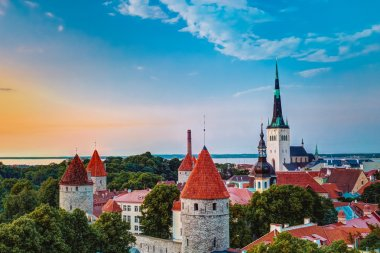 Old City Town Tallinn In Estonia