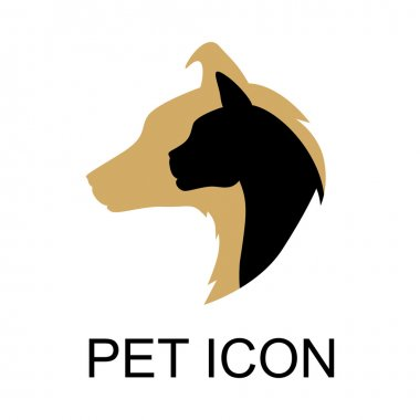 Cat and dog color icon
