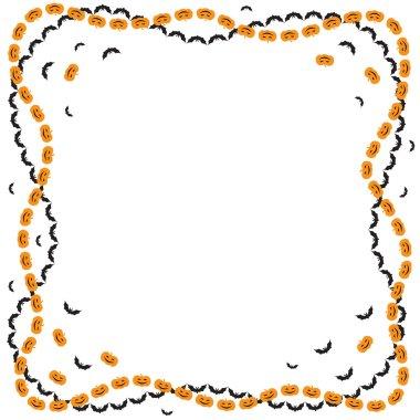 Halloween greeting frame